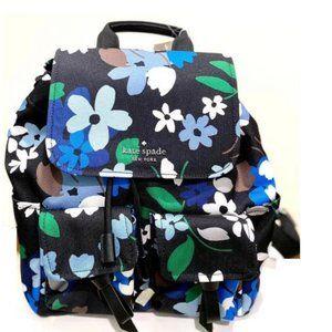Kate Spade Flat Backpack Carley Bloom Multi Blue W